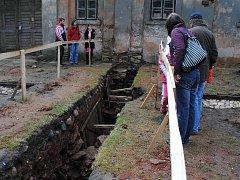 Archeologická sonda v Klášteře Teplá
