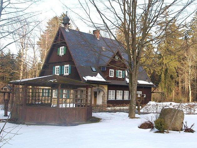 Hájenka v chebském lese v Německu.