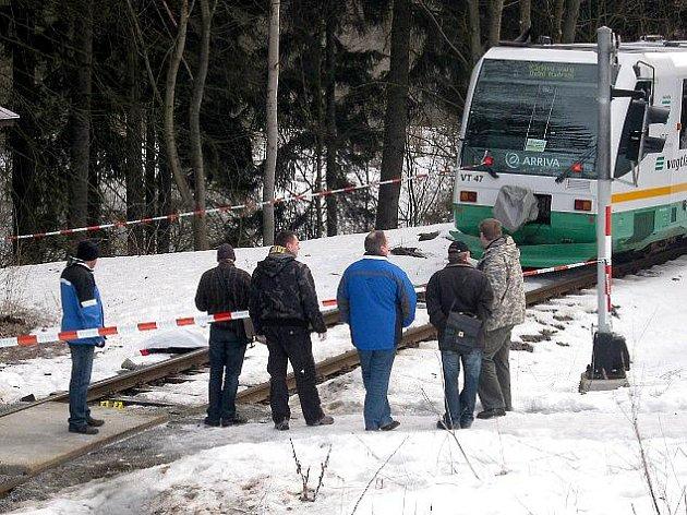 Vlak v Mariánských Lázních srazil ženu.