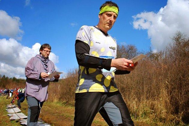 Libor Černý - ředitel orientačních závodů Jarní trojúhelník - je také aktivním závodníkem