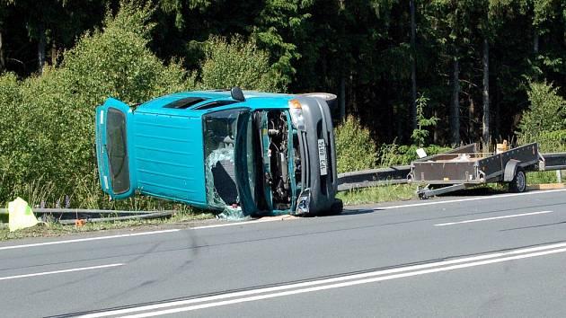 Ilustrační foto: Dopravní nehoda u Velké Hleďsebe