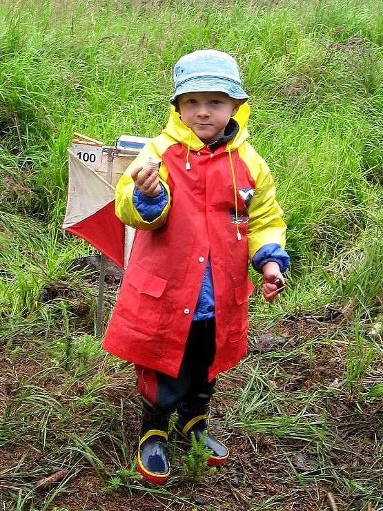 Orientačního závodu v Horním Slavkově se zúčastnil také čtyřletý Břetislav Milota