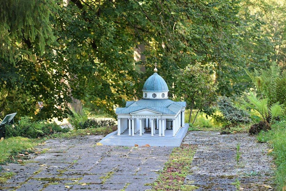 Z parku Boheminium Mariánské Lázně