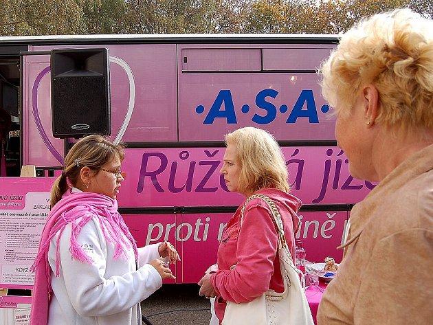 Růžová jízda proti rakovině prsu v Mariánských Lázních