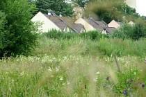 ČÁST NEVYUŽITÉHO POZEMKU VYSTŘÍDAJÍ NOVÉ DOMY. Celkem pět činžovních domů vznikne v chebské ulici Klášterní mlýn u chebského sídliště Skalka.