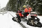 U rozhledny Havran o víkendu slouží dobrovolní záchranáři z Mountain Rangers Záchranné služby Royal Rangers Anna Krzeminská a Ladislav Kucharčuk.