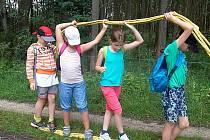 NAHLÉDLI DO EGYPTA. Děti se na táboře v Lázních Kynžvartu v celotáborové hře, která je zavedla do Egypta, setkaly s Kleopatrou a Caesarem.