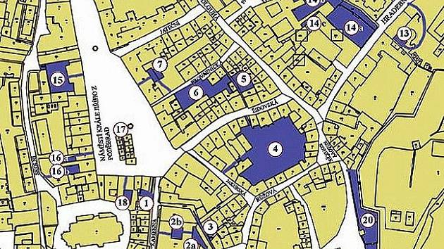 Mapa festivalu Chebské dvorky