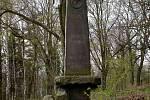 Obelisk na hřbitově válečných zajatců z 1. světové války v Chebu - Podhradě