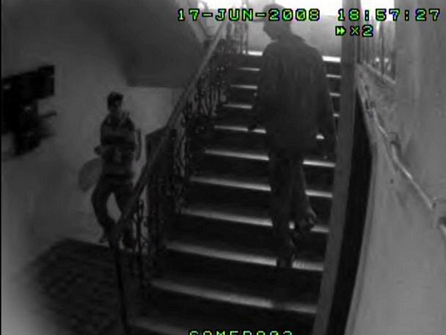 Záběr bezpečnostní kamery