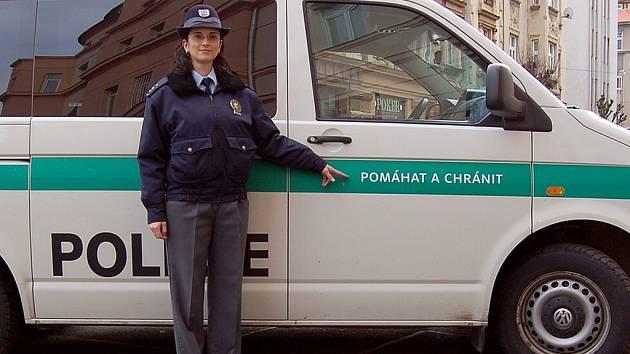 Mluvčí chebských policistů Martina Hrušková.