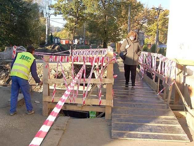 Oprava propustku Břehnického potoka u chebského sídliště Skalka.