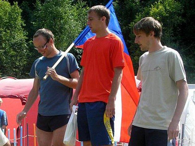 Petr Kunc (vpravo) vybojoval na Slovensku bronz