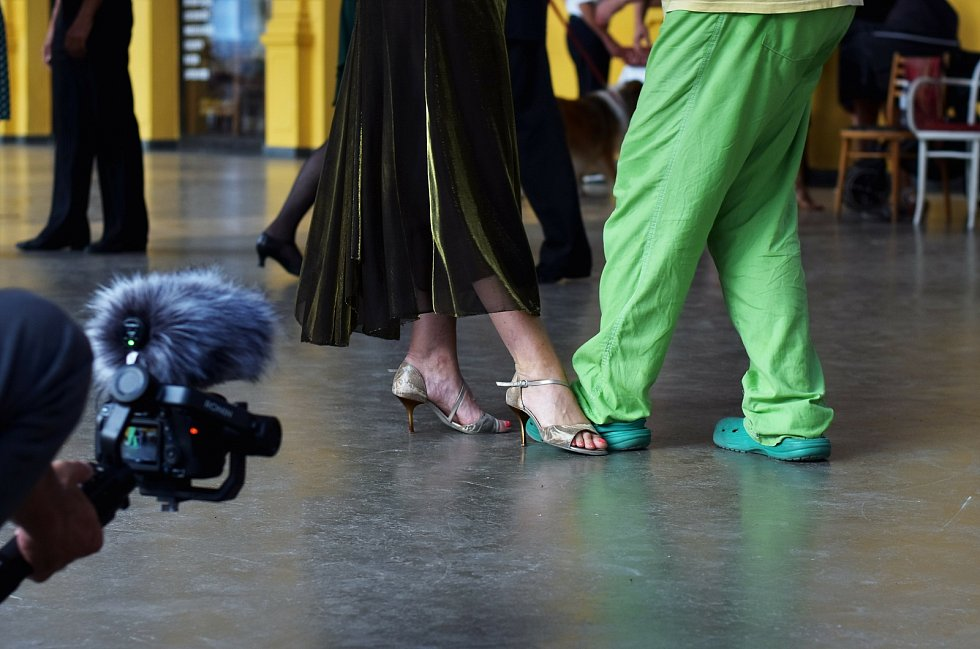 Argentinské tango tančili na kolonádě v Mariánských Lázních.