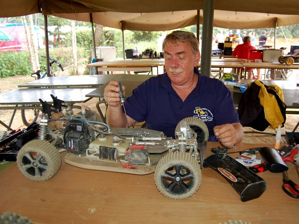 Závody modelů Grand Prix EFRA v kempu Luxor u Mariánských Lázní