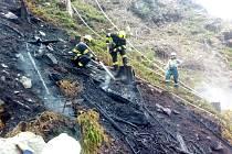 Požár u Oloví.