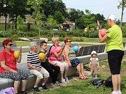 Hry seniorů se uskutečnily v areálu chebské Krajinky.