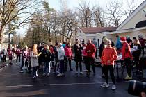 Vánoční běh 2015 ve Františkových Lázních.