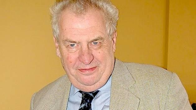 Miloš Zeman navštívil Cheb.