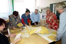 Sčítání hlasů v Chebu