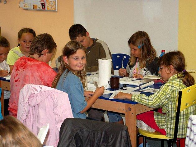 Zástupci nejmladší generace z regionu si užívali na šestém ročníku příměstského tábora, takzvané Letní výtvarné dílně.
