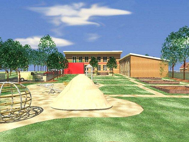 Takto vypadá návrh mateřské školy v Krásné na Ašsku. Když obec uspěje s žádostí o dotaci, začne stavět ještě letos na podzim.