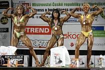 Jana Stöckelová (vlevo) – stříbrná z mistrovství České republiky v kulturistice mužů a žen, které se konalo v Jihlavě.