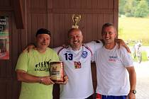 Vítězná trojice sedmého ročníku Žužu Cupu: Jergl, Weinfurter P. a Ulmon R. (zleva).