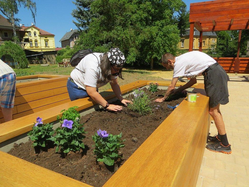 Rozsáhlou úpravou za necelé dva miliony korun prošla komunitní zahrada na bývalém školním pozemku 2. základní školy v chebské ulici Májová.