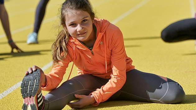 Kateřina Jarošová nenastupovala do závodu na 60 metrů zcela fit, přesto vybojovala bronzovou medaili.