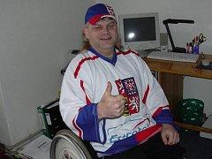 Vozíčkář Miroslav Hrbek z Chebu.