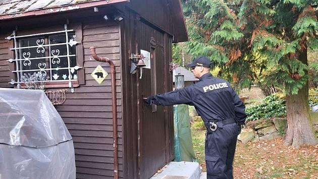V rámci bezpečnostní akce kontrolovali policisté chaty na Chebsku a Sokolovsku.