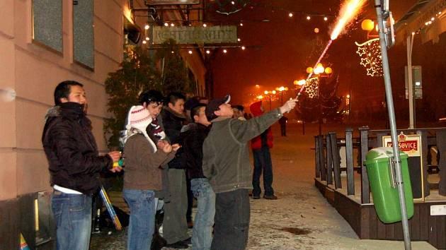 Oslavy Silvestra v Chebu