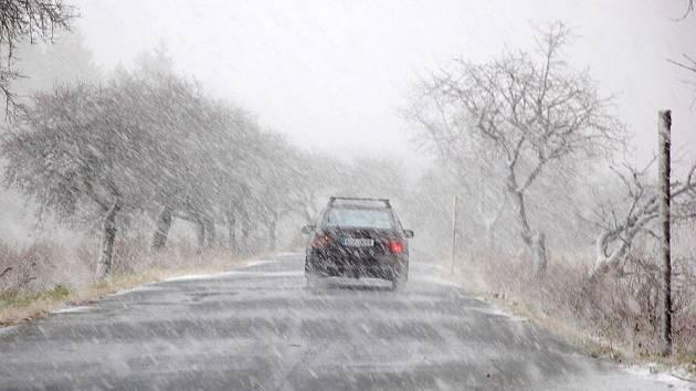 Sněhová vánice u Tří Seker