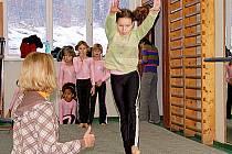 Františkolázeňské gymnastky na závodech v Karlových Varech