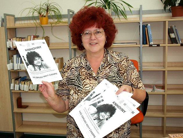 S PRVNÍM ČÍSLEM ČASOPISU, který vydává chebská knihovna společně s Mediálním centrem pro děti a mládež, se pochlubila Marie Mudrová, vedoucí knihovny.