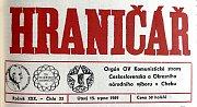 Chebský Hraničář z 15. srpna 1989.