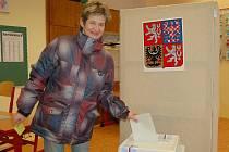 """""""Můj hlas dostal Miloš Zeman,"""" uvedla Zuzana Vondrášková."""