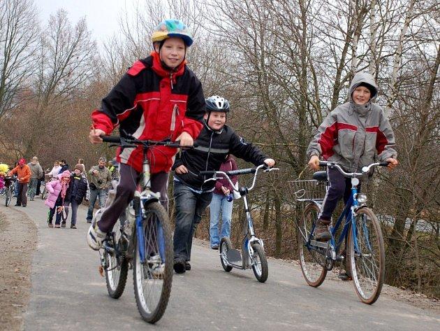 Slavnostní otevření nové cyklostezky ve Skalné na Chebsku