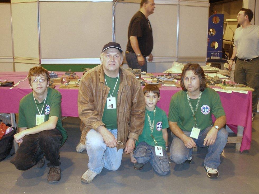 Úspěšní mariánskolázeňští reprezentanti: Jakub Kaplan, Michael Kaplan , Petr Němec a Martin Němec (zleva)