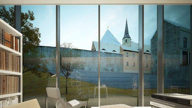 Takto by mohla v budoucnu chebská knihovna vypadat.
