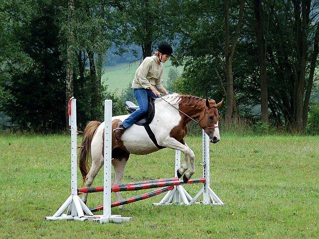 Prázdnivé skákání na koních se uskutečnilo o víkendu v Kopaninách u Aše.