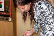 Lenka Kankrlíková při obhajobě své práce