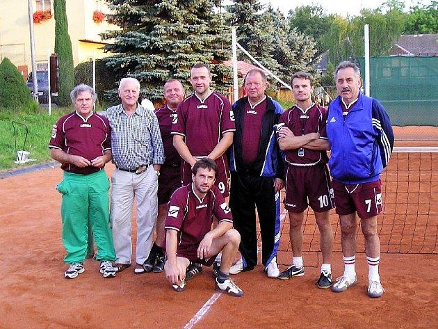 SKN SKALNÁ –  zleva : Krupička , Steiner,  Weifurter,  Ulmon ml.,  Ulmon st., Vokoun a Šťastný.