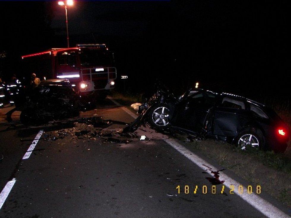 Tragická dopravní nehoda u Drmoulu v pondělí 18. srpna