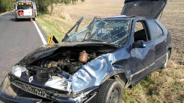 Dopravní nehoda u Třebeně.