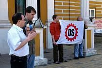 Shromáždění Dělnické strany v Chebu