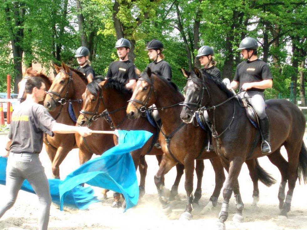 Děti se podívaly za jízdní policií do Prahy.