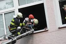 Ve Třech Sekerách měli hasiči cvičení.