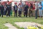 OSLAVY NAROZENIN. Sbor dobrovolných hasičů Cheb Háje si připomněl sedmdesáté výročí svého založení.
